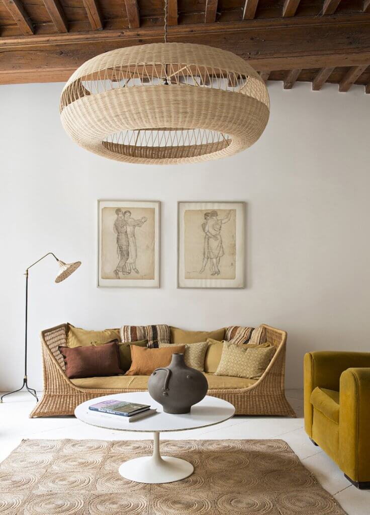 Mediterranean interior: Aramis suspension lamp by Atelier Vime