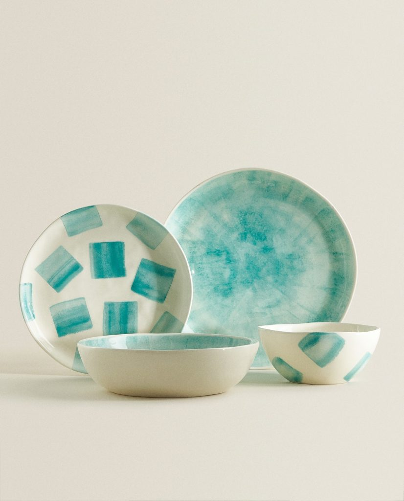 Mediterranean decor: Patterned Earthenware Tableware Zara Home