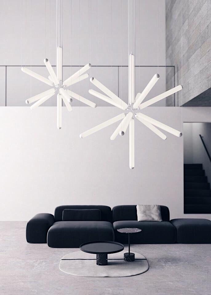 Puro Sparkle chandelier by Brokis