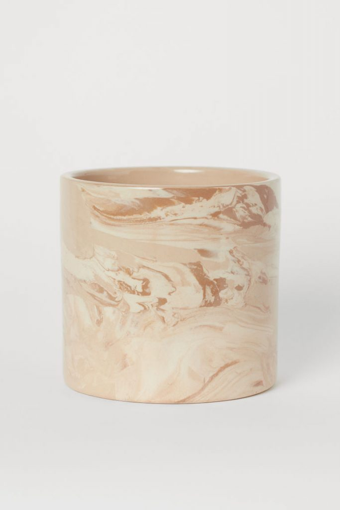 Mediterranean decor: Ceramic plant pot H&M Home