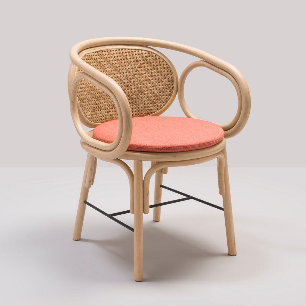 Mediterranean interiors: Countour rattan armchair by AC/AL studio