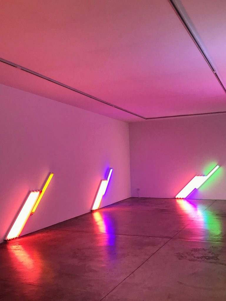 an Flavin Cardi Gallery Milano