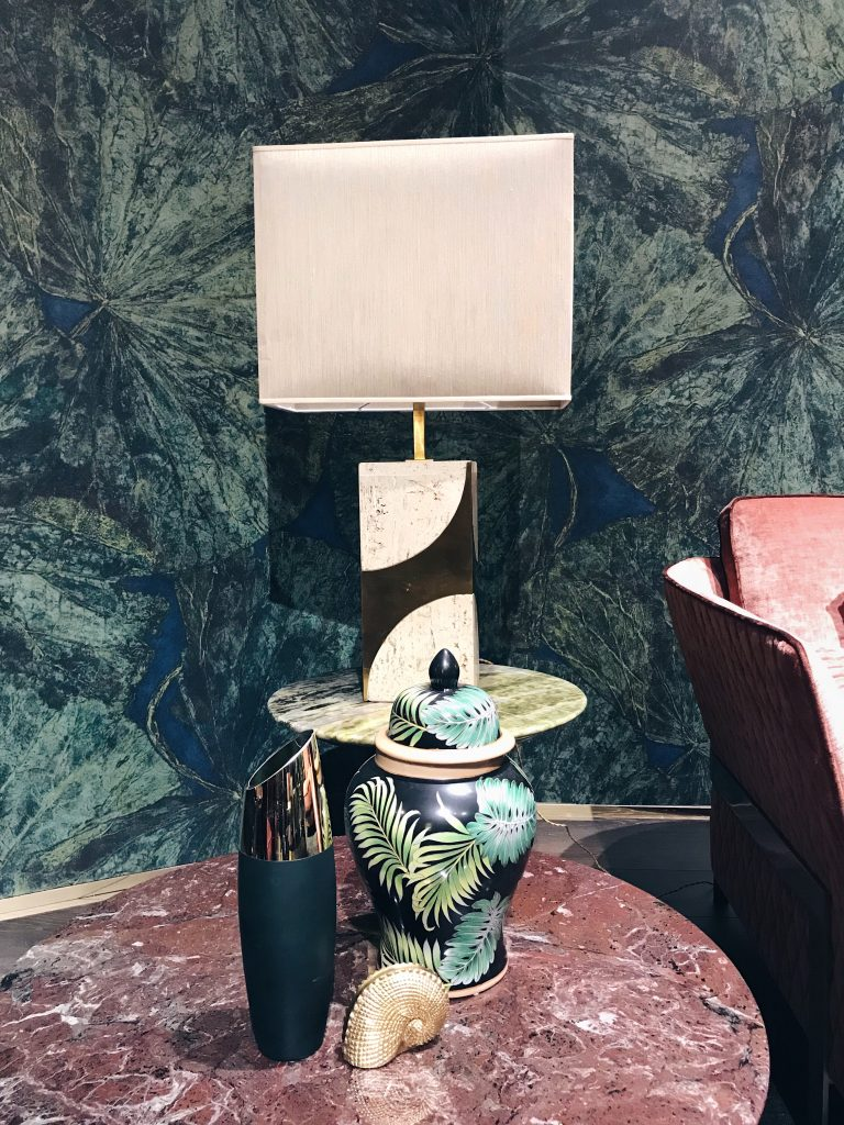 marble side table by Opera Contemporary Salone del Mobile luxury interior design trends