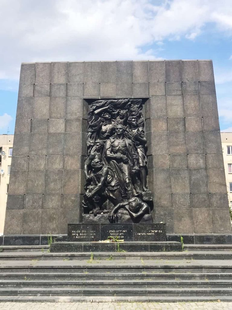 Monument to the Warsaw Ghetto Heroes in Warsaw