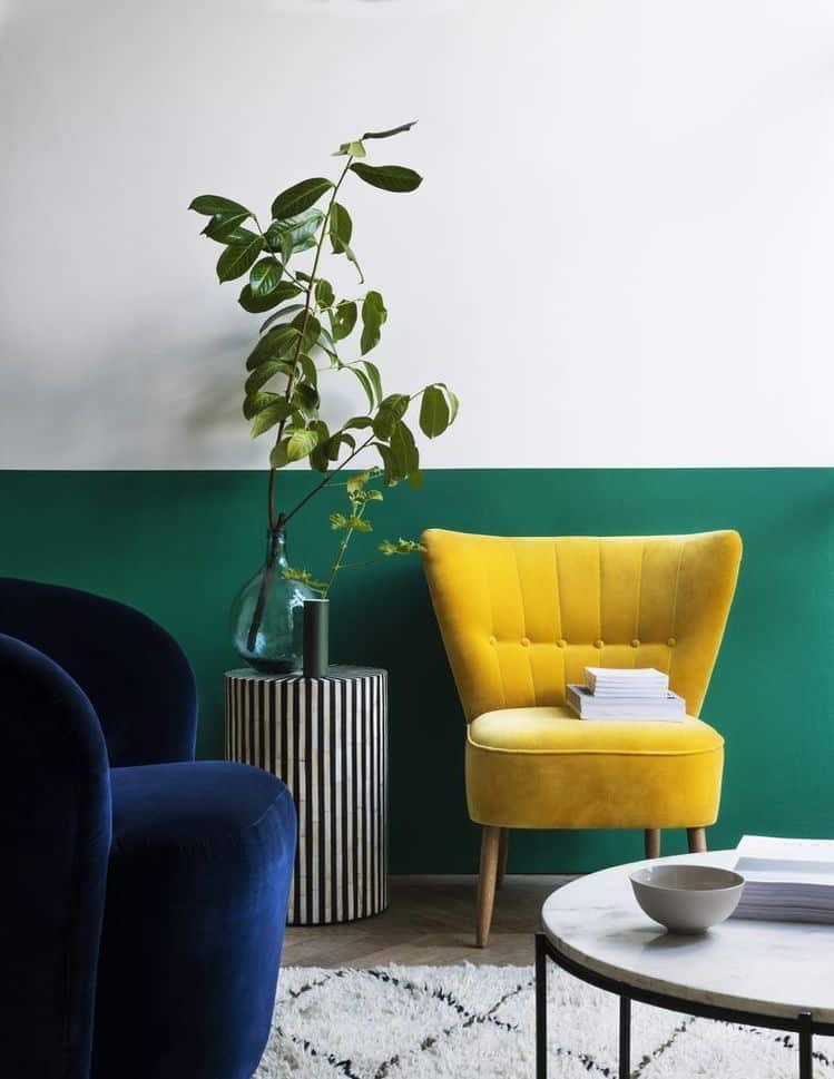 A chair in Illuminating Yellow